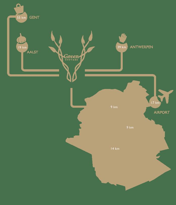 Green Cottage - A proximité de Bruxelles, Anvers, Gand, Asse, Diegem, aeroport, zaventem, gare, train, brussels expo, heysel, Zeelik, Asse